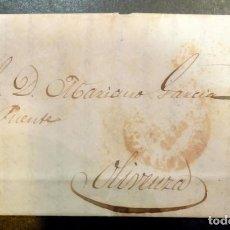Sellos: CARTA CIRCULADA EN 1850, ENTRE CACERES Y OLIVENZA, VER IMAGENES. Lote 84121812