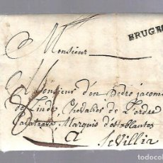 Sellos: PREFILATELIA. CARTA DE BRUGES, BELGICA A SEVILLA. 1756. VER. Lote 84791148