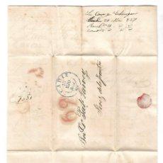 Sellos: CARTA. 1837. DE LACAVE Y ECHECOPAR, CADIZ A GARVEY, JEREZ. VER. Lote 84794928