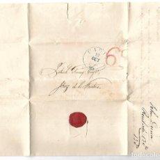 Sellos: CARTA. 1838. DE JOHN DUNM, CADIZ A GARVEY, JEREZ. VER. Lote 84795088