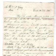 Sellos: CARTA. 1836. DE LACAVE Y ECHECOPAR, CADIZ A GARVEY, JEREZ. VER. Lote 84796240