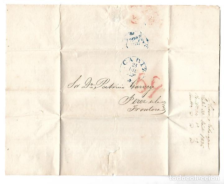 Sellos: CARTA. 1836. DE LACAVE Y ECHECOPAR, CADIZ A GARVEY, JEREZ. VER - Foto 2 - 84796240