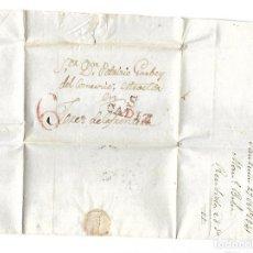 Sellos: CARTA. 1841. DE GARVEY, SANLUCAR DIRIGIDA A GARVEY, JEREZ. VER. Lote 84796476