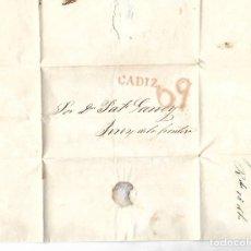 Sellos: CARTA. 1835. DE LACAVE Y ECHECOPAR, CADIZ A GARVEY, JEREZ. VER. Lote 84796556