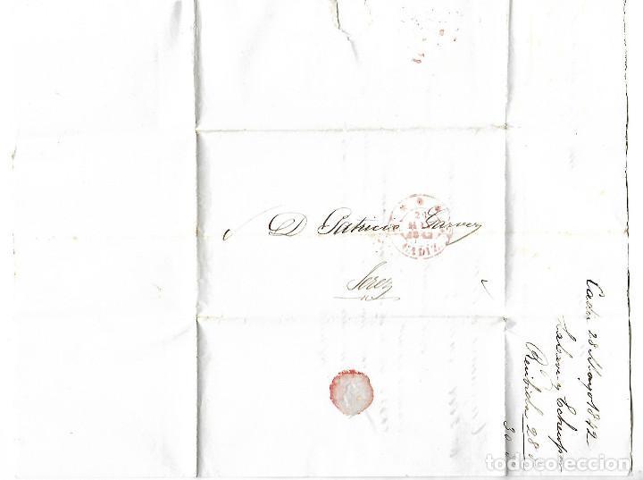 CARTA. 1842. DE LACAVE Y ECHECOPAR, CADIZ A GARVEY, JEREZ. VER (Filatelia - Sellos - Prefilatelia)
