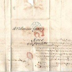 Sellos: CARTA. 1836. DE E.MISTER, CADIZ A GARVEY, JEREZ. VER. Lote 84908360