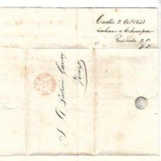 Sellos: CARTA. 1843. DE LACAVE Y ECHECOPAR, CADIZ A GARVEY, JEREZ. VER. Lote 84908460
