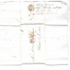 Sellos: CARTA. 1836. DE LACAVE Y ECHECOPAR, CADIZ A GARVEY, JEREZ. VER. Lote 84908536