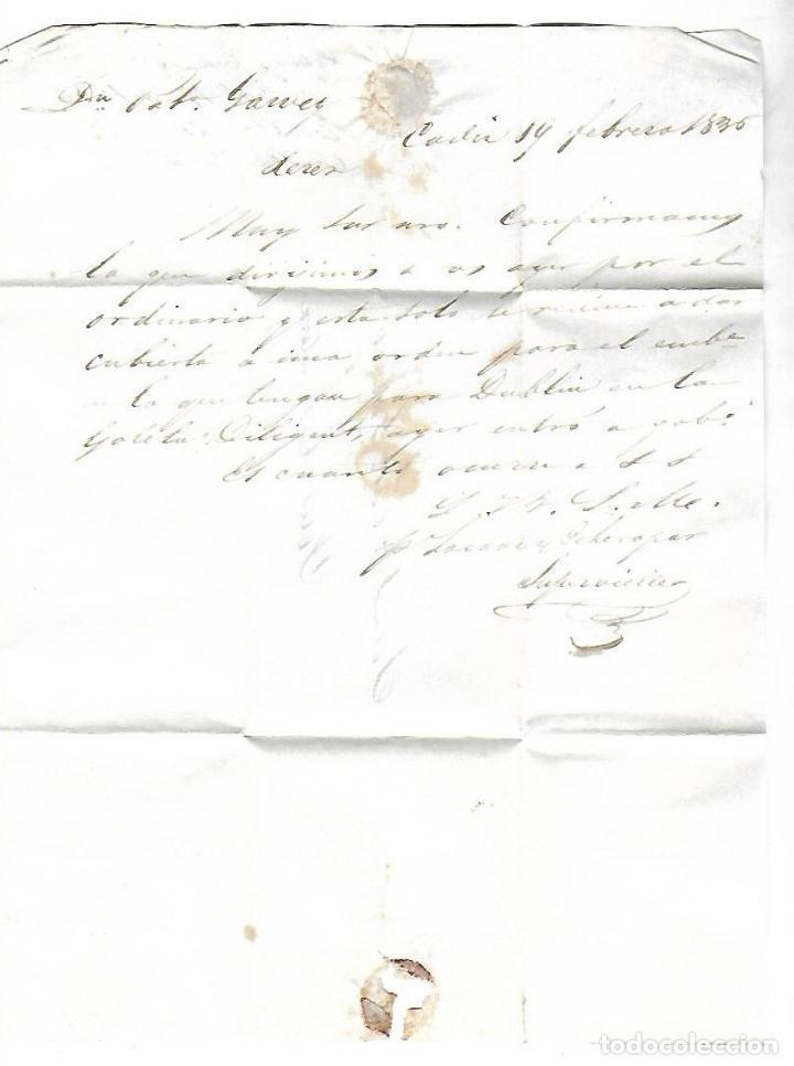 Sellos: CARTA. 1836. DE LACAVE Y ECHECOPAR, CADIZ A GARVEY, JEREZ. VER - Foto 2 - 84908536