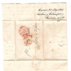 Sellos: CARTA. 1844. DE LACAVE Y ECHECOPAR, CADIZ A GARVEY, JEREZ. VER. Lote 84908732