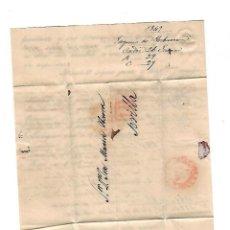 Sellos: CARTA. 1849. DE EUGENIO DE YBARRA, CADIZ A JOSE Mª DE YBARRA, SEVILLA. VER. Lote 84909012