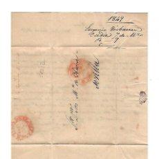 Sellos: CARTA. 1849. DE EUGENIO DE YBARRA, CADIZ A JOSE Mª DE YBARRA, SEVILLA. VER. Lote 84913556