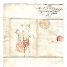 Sellos: CARTA. 1849. DE MAN. ANTº DE GONTANAGA, CADIZ DIRIGIDO A JOSE Mª DE YBARRA, SEVILLA. VER. Lote 84913916