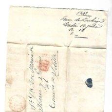 Sellos: CARTA. 1849. DE JUAN ZUBIAGA, CADIZ A JOSE Mª DE YBARRA, SEVILLA. VER. Lote 84914248