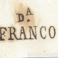 Sellos: PREFILATELIA FRAGMENTO MARCA DAROCA FRANCO ZARAGOZA INEDITA MARCA FRANCA PLICA . Lote 85214568