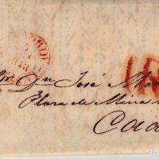 Sellos: PREFILATELIA-CARTA COMPLETA DE MADRID A CADIZ 1848- PORTEO 1R. Lote 86864916