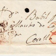 Sellos: PREFILATELIA -CARTA DE VALENCIA DEL CID A CORELLA PORTEO 8 ROJO - VARIANTE MARRÓN -R. Lote 86873600