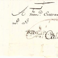 Sellos: PREFILATELIA-CARTA COMPLETA DE TREMP A CALAF -1790- PORTEO 6 ---- RR ----. Lote 86875032