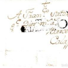 Sellos: PREFILATELIA-CARTA COMPLETA DE TORTOSA A CALAF -1784- PORTEO B6 ---R---. Lote 86875260