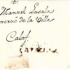 Sellos: PREFILATELIA-CARTA COMPLETA DE TORREDEMBARRA A CALAF --1809-- -R-. Lote 86875448