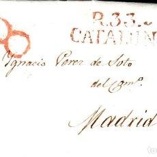 Sellos: PREFILATELIA - CARTA COMPLETA DE REUS A MADRID MARCA NUM. 11 AÑO 1837. Lote 87652876