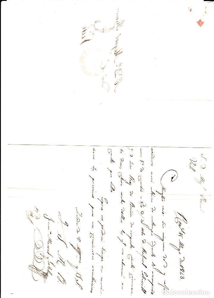 Sellos: PREFILATELIA - CARTA COMPLETA DE REUS -1843- A VIC MARCA NUM. 12 PORTEO 6 - Foto 3 - 88355636