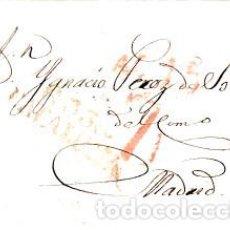 Sellos: PREFILATELIA - CARTA COMPLETA DE REUS -1834- A MADRID MARCA NUM. 11 PORTEO 7. Lote 89363592