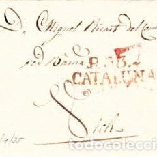 Sellos: PREFILATELIA - CARTA COMPLETA DE REUS -1835- A VIC MARCA NUM. 11 PORTEO 7. Lote 89366408