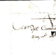 Sellos: PREFILATELIA - CARTA COMPLETA DE MIRAVET -MORA DE EBRO (1789) MARCA NUM. 1 PORTEO B6 --- RR ---. Lote 194406001