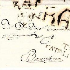 Sellos: PREFILATELIA - CARTA COMPLETA DE TORTOSA (1818) A BARCELONA MARCA NUM.7 PORTEO B6. Lote 89368960