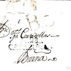 Sellos: PREFILATELIA - CARTA COMPLETA DE BENISSANET MARCA DE MORA DE EBRO (1803) MARCA NUM. 3 -- RR ---. Lote 89369780