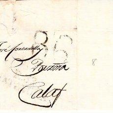 Sellos: PREFILATELIA - CARTA COMPLETA DE REUS (1804) A CALAF MARCA NUM. 8 PORTEO B6. Lote 89373456