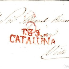 Sellos: PREFILATELIA - CARTA COMPLETA DE TARRAGONA (1833) A VIC NUM. 13 PORTEO 6. Lote 93397340