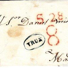 Sellos: PREFILATELIA- CUBIERTA DE IRUN A MADRID MARCA NUM 8 RR. Lote 93601800