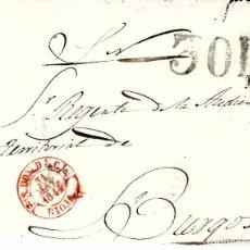 Sellos: PREFILATELIA.- FRAGMENTO PLICA JUDICIAL DE SANTO DOMINGO DE LA CALZADA (1844) A BURGOS PORTEO 30R. Lote 93608140