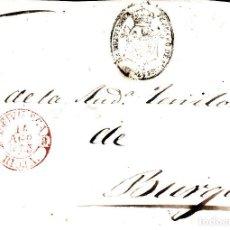 Sellos: PREFILATELIA.- FRAGMENTO PLICA JUDICIAL DE BRIVIESCA A BURGOS . Lote 93610230