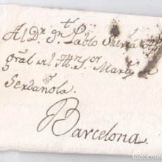 Sellos: PREFILATELIA. CARTA ENTERA DE MADRID A BARCELONA. CATALUÑA. 1800. Lote 95997695