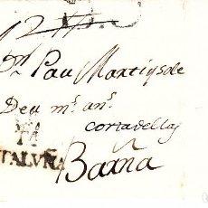 Sellos: PREFILATELIA.- CARTA COMPLETA DE TORTOSA (1801) A BARCELONA MARCA 5 PORTEO B6 ---R----. Lote 96177955