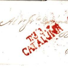 Sellos: PREFILATELIA.- CARTA COMPLETA DE TARRAGONA (1831) MARCA NUM.13 EN ROJO PORTEO 6. Lote 97167887