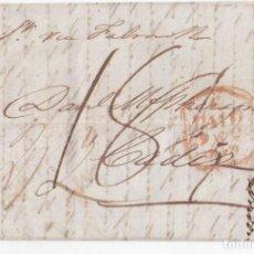 Sellos: PREFILATELIA. CARTA ENTERA DE LONDRES A CÁDIZ. 1843. POR VÍA MARÍTIMA. BONITO PORTEO MANUSCRITO.. Lote 97932131