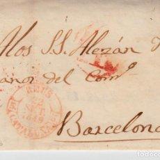 Sellos: PREFILATELIA CARTA COMPLETA DE REUS (1849) MARCA NUM 12 CON PORTEO DIRIGIDA A BARCELONA. Lote 97988827