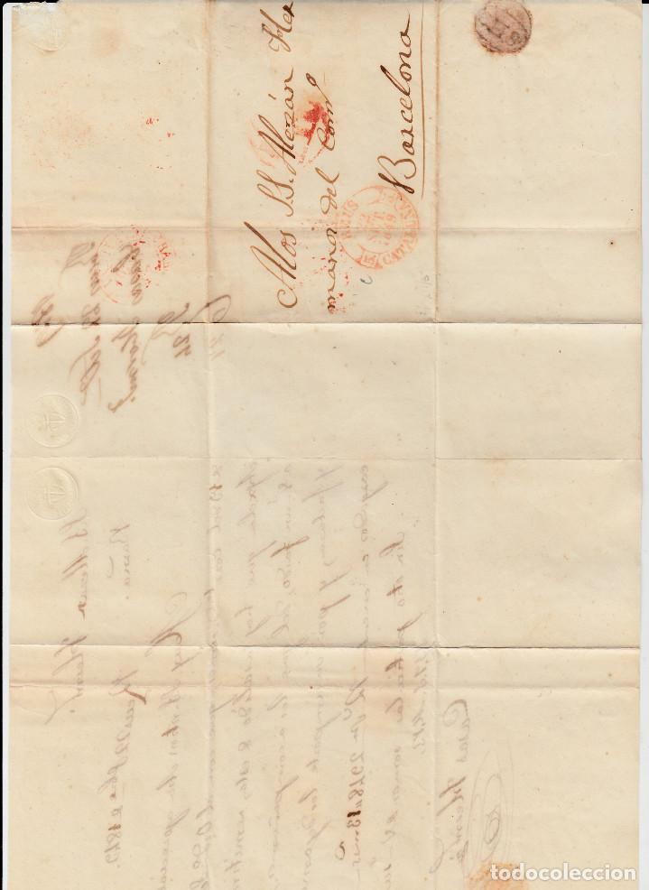 Sellos: PREFILATELIA CARTA COMPLETA DE REUS (1849) MARCA NUM 12 CON PORTEO DIRIGIDA A BARCELONA - Foto 2 - 97988827