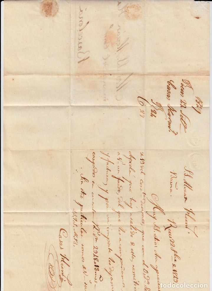 Sellos: PREFILATELIA CARTA COMPLETA DE REUS (1849) MARCA NUM 12 CON PORTEO DIRIGIDA A BARCELONA - Foto 3 - 97988827