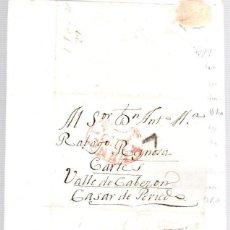 Sellos: SOBRE PREFILATELIA PALENCIA A REINOSA - CARTES - VALLE DE CABEZON - CASAR DE PERIEDO. AÑO 1822. Lote 98130687