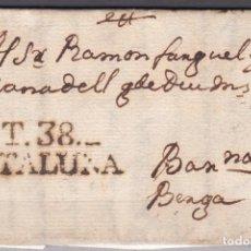 Sellos: BARCELONA A BERGA , MARCA T.38. CATALUÑA , . Lote 98490403