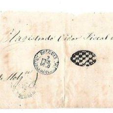 Sellos: PLICA. DE HOLGUIN A LA HABANA. 1860.. Lote 98739159