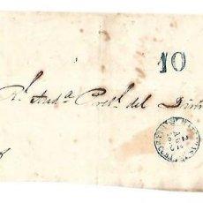 Sellos: PLICA. DE MATANZAS A LA HABANA. 1853. Lote 98739347