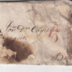 Sellos: CARTA: 1845 BILBAO / COMPLETA. Lote 99219127