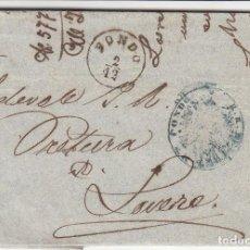 Sellos: CARTA: 1857 LOVERE (ITALIA) / COMPLETA. Lote 99284799