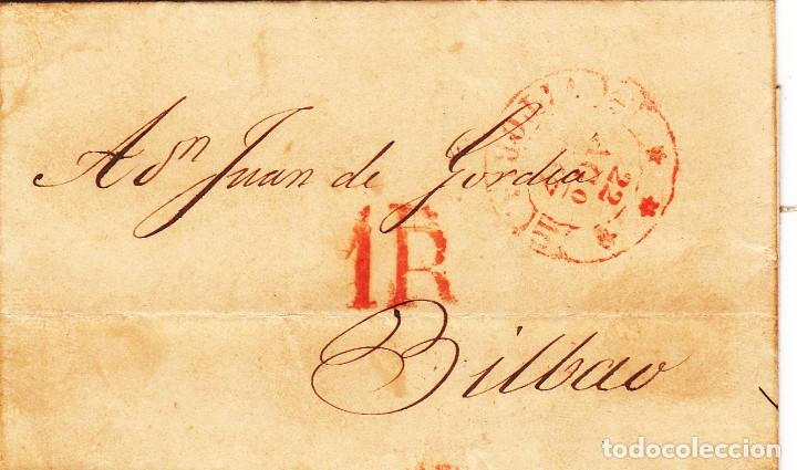 CARTA: 1847 - BILBAO (Filatelia - Sellos - Prefilatelia)